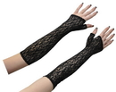 Morris Costumes BA-17 Gloves Bk Lce Fngrlss Elbow