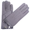 Morris Costumes BA-18 Gloves Nylon W Snap Mens Grey