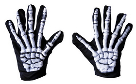 Morris Costumes BA-31 Gloves Skeleton
