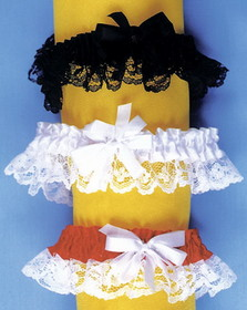 Morris Costumes BB-02RD Garter Lace Red Single