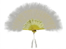 Morris Costumes BB-132WT Fan Marabou Feather White