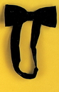 Morris Costumes BB-170BK Bow Tie Satin Band Black