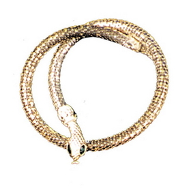 Morris Costumes BB-192SV Necklace Snake Silver