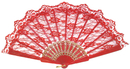 Morris Costumes BB-26RD Fan Red Lace