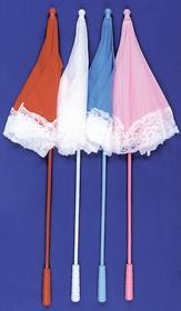 Morris Costumes BB-31WT Parasol Nylon Ruffle White