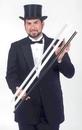 Morris Costumes BD-01WT Swagger Stick Heavy White