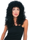 Morris Costumes CA-115BK Wig Curly Extra Long Black