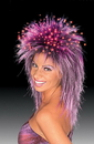 Morris Costumes CA-133 Fiber Optic Wig Purple