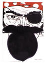 Morris Costumes CB-06BK Nautical Beard Black