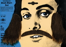 Morris Costumes CB-20BK Mustache Sideburns Black