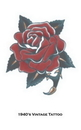 Morris Costumes DF-115 Tattoo Vintage Rose