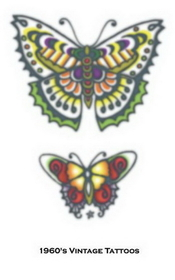 Morris Costumes DF-119 Tattoo Vintage Butterflies