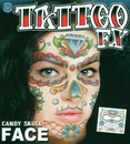 Morris Costumes DF-FC501 Face Tattoo Candy Skull