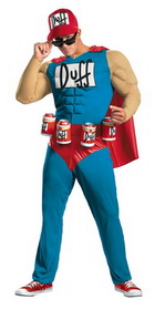 Disguise 27895C Simpsons Duffman Muscle 50-52