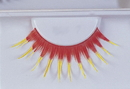 Morris Costumes EA-93 Eyelashes Red With Yellow