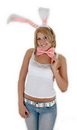 Elope Lingerie H2251 Bunny Ears Bow Tail Set Wt