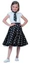 Funny Fashions 740848 Sock Hop Skirt Child Black Whi