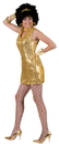 Funny Fashions FF-782755 Disco Dress Gold Adult Large