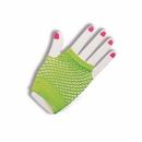 Forum Novelties 63020 Gloves Fingerles Fishnet Green