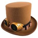 Forum Novelties FM-75327 Steampunk Hat W/Goggles Brown