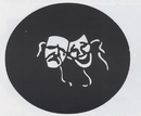 Morris Costumes FP-118 Stencil Comedy Tragdy Steel