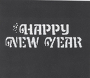 Morris Costumes FP-129 Stencil Happy New Yr Stainl