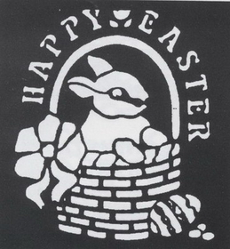 Morris Costumes FP-167 Stencil Happy Easter Brass