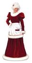 Funworld 7571ML Santa Mrs Velvt Dress Md Lg