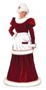 Funworld 7571SD Santa Mrs Velvet Dress Sm Md