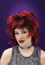 Funworld 8166RB Wig Club Red Black