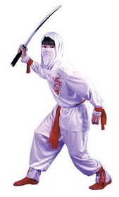 Funworld 8708LG White Ninja Dlx Child Lrg