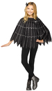 Morris Costumes FW-90399S Poncho Spiderweb Silver Ch Up