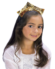 Funworld 9195GD Tiara Sparkling Gold Sequin