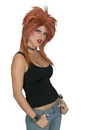 Funworld 92130AB Rocker Wig Auburn And Brown
