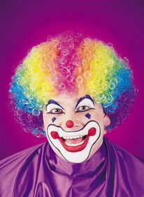 Funworld 9236 Wig Rainbow Clown