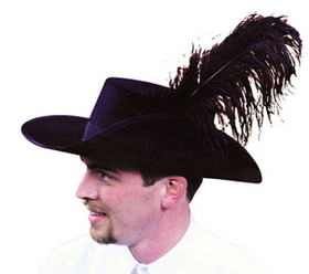 Morris Costumes GA-03MD Cavalier Hat Quality Medium
