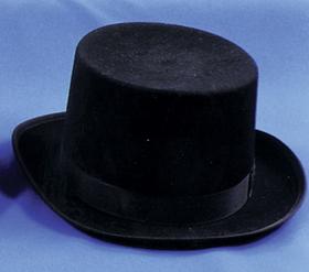 Morris Costumes GA-04BKLG Top Hat Felt Qual Black Lrg