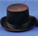 Morris Costumes GA-04BNLG Top Hat Felt Qual Brown Lrg