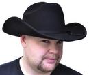 Morris Costumes GA-09MD Cowboy Hat Black Felt Med