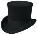 Morris Costumes GA-15BKMD Tall Hat Black Medium