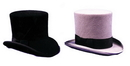 Morris Costumes GA-15BKSM Tall Hat Black Small
