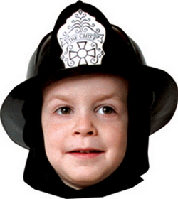 Rasta Impasta 69BK Fire Fighter Helmet Child Blk