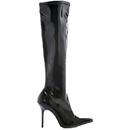 Morris Costumes HA-131BK7 Boots Emma Knee Length Bk Sz 7
