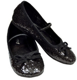 Morris Costumes HA-149CBKMD Flat Ballet Glitter Child 13/1