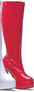 Morris Costumes HA-5RD10 Boot Chacha Red Size 10