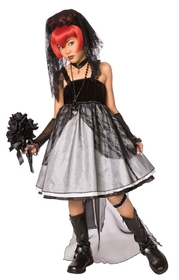 Morris Costumes LF-3017CMD Dark Bride Child Medium