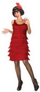 Morris Costumes LF-5076MD Flapper Red Adult 10-12