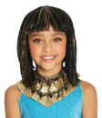 Morris Costumes MR-172007 Cleo Child Wig Black With Gold