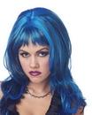 Seasonal Visions MR-177018 Wig Hard Rockin Witch Blk Blue