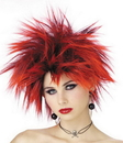 Seasonal Visions MR-177037 Wig Red Punker Chick